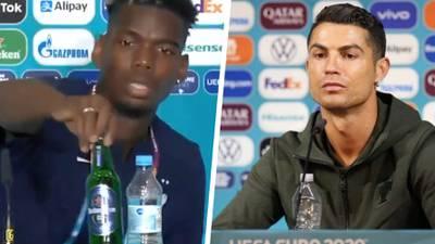 ¿′Botellagate' en la Euro? Primero fue Cristiano Ronaldo... ahora Paul Pogba
