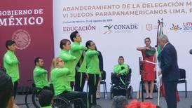 AMLO abandera a atletas parapanamericanos que competirán en Lima 2019