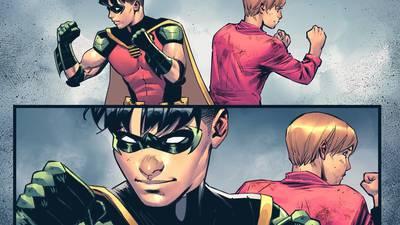 Robin 'sale del clóset' y se declara bisexual en el nuevo cómic de Batman