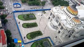 'Blindan' Bellas Artes previo a marchas por el aborto legal en México
