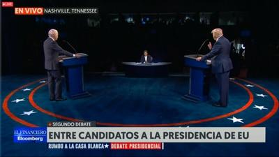 Pese a repunte de casos, Trump afirma en debate: 'No podemos mantener este país cerrado'