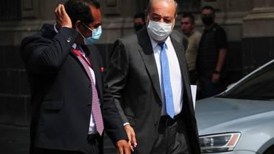 López Obrador se reúne con Carlos Slim y Sheinbaum en Palacio Nacional