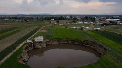 Socavón en Puebla: sobreexplotación de manto acuífero, una de las causas de su formación