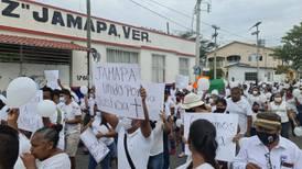 Marchan para exigir justicia por alcaldesa asesinada en Jamapa, Veracruz