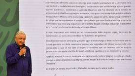 Medalla Belisario Domínguez: López Obrador no irá a entrega del galardón