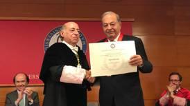 Carlos Slim recibe condecoración de la Universidad Carlos III de Madrid