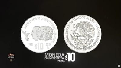 Monedas conmemorativas de Tenochtitlan y la Independencia: conoce sus detalles