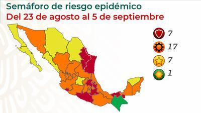 Semáforo COVID-19: ¿En qué color estará mi estado del 23 de agosto al 5 de septiembre?