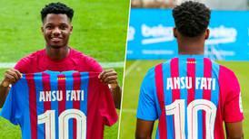 Ansu Fati hereda el '10' de Messi en el Barcelona
