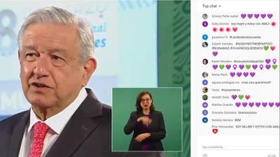 Mujeres se manifiestan de manera virtual en la 'mañanera' de AMLO
