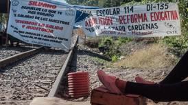 Hay voluntad para liberar vías del tren, asegura dirigente de CNTE en Pátzcuaro