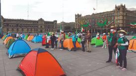 Dejan pasar a los de FRENA al Zócalo... no a Palacio Nacional
