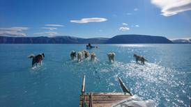 No es una playa... Es Groenlandia en un día 'inusualmente caluroso' y el hielo se derrite
