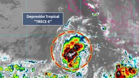 Se forma la depresión tropical 13-E en el Océano Pacífico