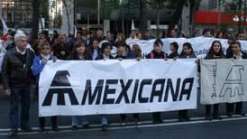 Extrabajadores piden liquidación justa tras 9 años del cese de operaciones de Mexicana