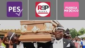 Inicia el 'baile del adiós' del PES, RSP y Fuerza por México, al no lograr registro