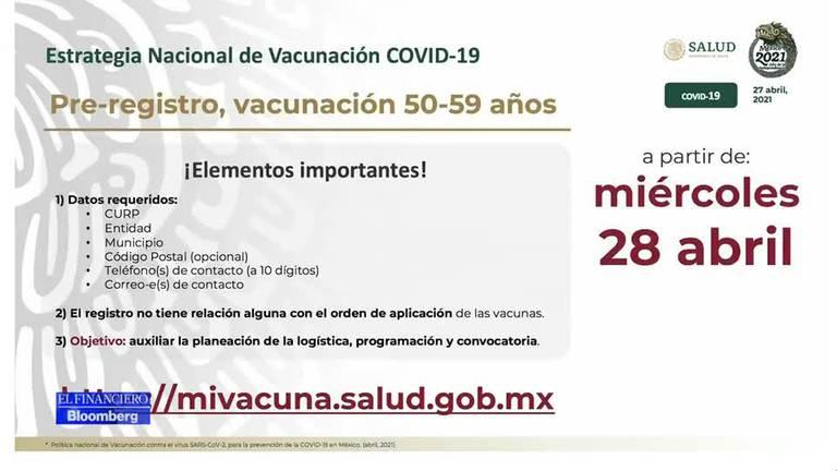 Tienes entre 50 a 59 años? Registro para vacunación COVID inicia el  miércoles 28 de abril – El Financiero