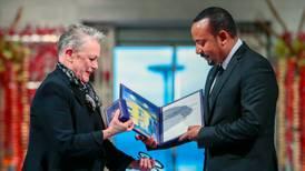 Abiy Ahmed, primer ministro de Etiopía, recibe el Nobel de la Paz 2019