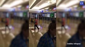 Se 'encharca' terminal del aeropuerto de Cancún