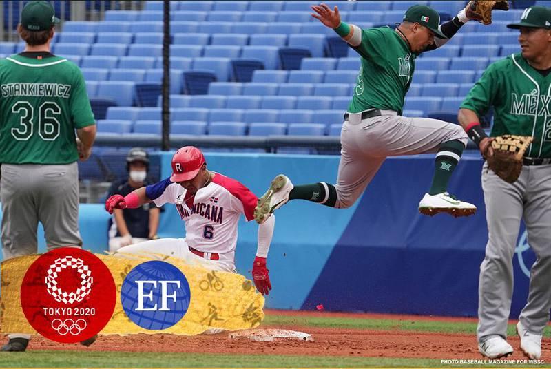 En su debut en los Juegos Olímpicos, la selección mexicana de beisbol ante República Dominicana.