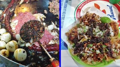 Tacos con 'cochinada', el invento chilango solo para valientes
