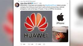 Logo de Huawei es Apple cortado en pedazos, por eso Trump odia a la compañía china: diplomático