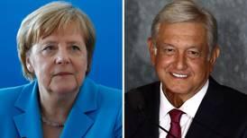 Merkel felicita a López Obrador y propone encuentro