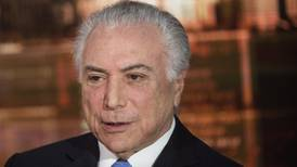 Expresidente brasileño Temer es acusado formalmente de corrupción