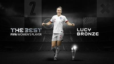 La futbolista inglesa Lucy Bronze se lleva el premio 'The Best' 2020