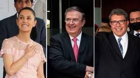'Calientan' contienda en Morena: Ebrard, Sheinbaum y Monreal adelantan 'campaña'