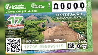 Zona Arqueológica de Teotihuacán aparecerá en nuevo billete de la Lotería Nacional