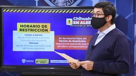 Chihuahua anuncia nuevas restricciones para reducir contagios de COVID-19