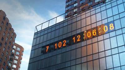 'Tic, tac': Este reloj gigante de Nueva York muestra el tiempo que queda para frenar el cambio climático