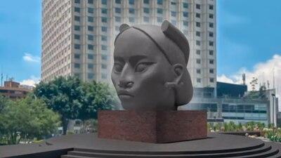 Critican escultura de mujer indígena que sustituirá a Colón; es una cabeza olmeca con nombre náhuatl