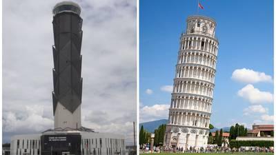 No es Pisa… es Santa Lucía: la Torre de Control se está inclinando