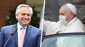 Papa Francisco recibe a Alberto Fernández tras despenalización del aborto en Argentina